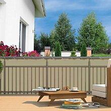 Balkon-Sichtschutz, 600x90 cm, creme