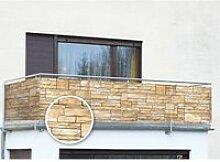 Balkon-Sichtschutz Mauer