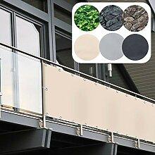 Balkon Sichtschutz PVC | 90x600 cm | Extra