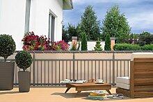 Balkon Sichtschutz - Sichtschutzplane für Balkon Geländer creme