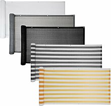 Balkon Sichtschutz verschiedene Modelle / Balkonbespannung Balkonsichtschutz Balkonverkleidung 6 Meter (0,75 x 6,0 Meter, Weiß)