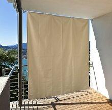 Balkon Sichtschutz vertikal - Balkonsichtschutz zum hängen - Sonnenschutz Balkonsichtschutz Sonnensegel (Beige)