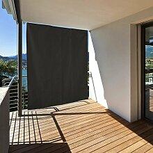 Balkon Sichtschutz vertikal - Balkonsichtschutz zum hängen - Sonnenschutz Balkonsichtschutz Sonnensegel (Anthrazit)