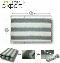 Balkon-Sichtschutz von Gardenexpert, grau-weiß, 5