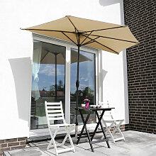 Balkon-Sonnenschirm 270×135 cm Halbrund