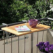 Balkonhängetisch Bambusholz 40 x 60cm,