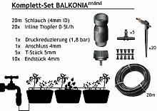 BALKONIA mini - Balkon Tropfbewässerung Set für 10-15 Pflanzen