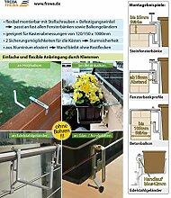 Balkonkastenhalter ohne Schrauben Balkon