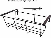 Balkonkastenhalter, verstellbar 60cm.