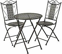 Balkonmöbel-Set 3-teilig aus Eisen im Antikfinish