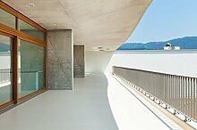 Balkonsanierung Balkonbelag & Terrassenbelag 2K Bodenbeschichtung in seidenglänzend RAL-Farben | BEKATEQ BK-300EP 2K Epoxidharz Beschichtung Bodenversiegelung Balkonfarbe Treppenbeschichtung | Bodenfarbe Balkonboden Farbe ABRIEBFEST, LEICHTE VERARBEITUNG, HOCH BELASTBAR (10KG, RAL7023 Betongrau)