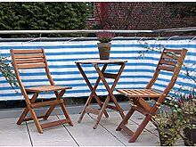 Balkonschutz Sichtschutz JEMIDI Geländerschutz Balkon Windschutz Balkonverkleidung Sonneschutz Sichtschutzmatte Blau/Weiss