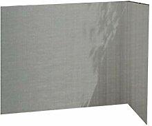 Balkonsichtschutz grau 90x300 Kunststoff
