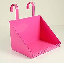 Balkontablett pink 30x20x31cm, Zinkblech