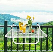 Balkontisch Crook Garten Living Farbe: Weiß