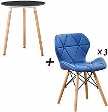 Balkontisch und Stuhl kombiniert, legeres Design,