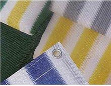 Balkonumspannung, 500 x 90 cm, grün/ weiß/ gelb