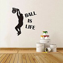 Ball Ist Leben Basketball Wandaufkleber Wandbild