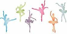 Ballerinas Schablone,-34x