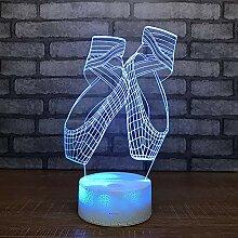 Ballettschuhe 3D Nachtlicht LED Optische