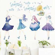 Balletttänzer Wandaufkleber Bilder für