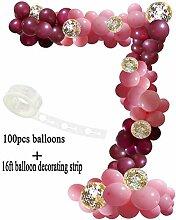 Ballon Bogen Girlande Dekorieren Streifen Kit, 102