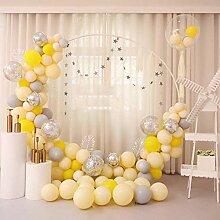 Ballon-Girlande und Bogen-Set, Hot Pink,
