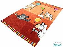 Ballon rot HEVO® Handtuft Teppich   Kinderteppich