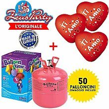 Ballongas Gasflasche 50Luftballons sortiert +