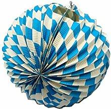 Ballonlaterne, Bayerische Deko für Garten und Balkon, ca 24 cm, Feuerbeständig