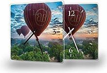 Ballons - Moderne Wanduhr mit Fotodruck auf
