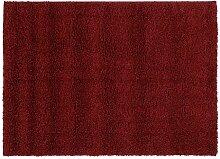 BALLROOM SHAGGY Hochflor Langflor Teppich in rot,