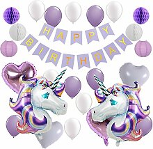 Balonar Papierlaternen mit Einhorn-Luftballons,