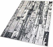 Balta Rugs In- und Outdoor-Teppich Black Wooden