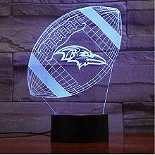 Baltimore Ravens Nachtlicht Led Dekor 3D Illusion