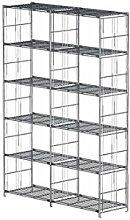 Balton Regal mit 12 Gitterböden BIII, Metall, Chrom, 132 x 38 x 190 cm (Breite x Tiefe x Höhe)