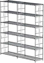 Balton Regal mit 12 Gitterböden BIII, Metall, Chrom, 172 x 38 x 190 cm (Breite x Tiefe x Höhe)
