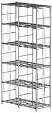 Balton Regal mit 12 Gitterböden BIII, Metall, Chrom, 94 x 38 x 190 cm (Breite x Tiefe x Höhe)