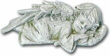 Bambelaa! Grabdeko 'schlafender Engel' aus Steinharz Grabengel