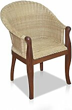 BAMBO Rattan Sessel, braun/beige