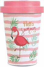 Bamboo Cup Flamingo 350ml | Bambus Becher Flamingo