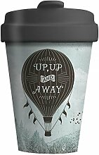 "BambooCup ""Up and Away"" Blau Grau"