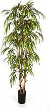 Bambus 120 cm, große Kunstpflanze hochwertig, Bamboo Deko-Pflanze wie ech