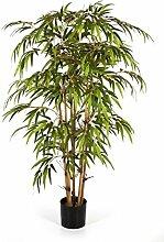 Bambus 150 cm, große Kunstpflanze hochwertig, Bamboo Deko-Pflanze wie ech