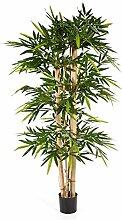 Bambus 150 cm, große Kunstpflanze hochwertig, New giant bamboo Deko-Pflanze wie ech
