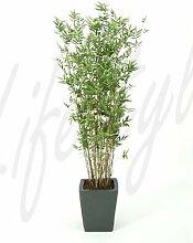 Bambus 160 cm, große Kunstpflanze hochwertig, Bamboo oriental Deko-Pflanze wie ech