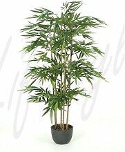 Bambus 180 cm, große Kunstpflanze hochwertig, Bamboo Deko-Pflanze wie ech