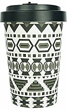Bambus Becher »Bamboo-to-go Aztek Black« 400 ml