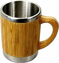 Bambus Becher Kaffebecher mit Henkel 400 ml
