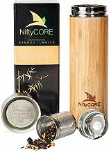 Bambus Becher mit Tee-Ei Lose Leaf Sieb – 450 ml